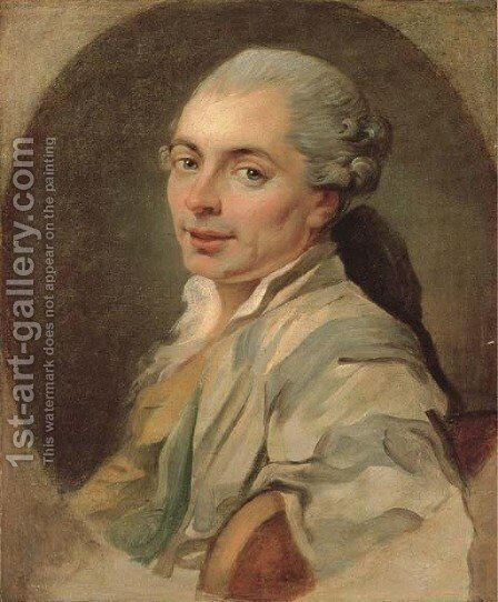 Portrait of a gentleman by (after) Francois-Andre Vincent - Reproduction Oil Painting