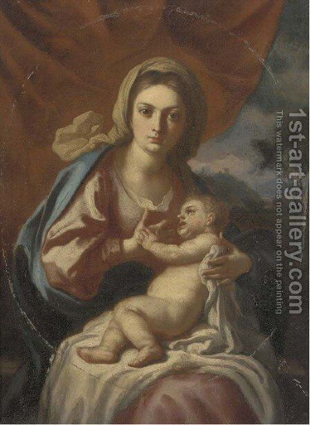 The Madonna and Child 2 by (after) Francesco De Mura - Reproduction Oil Painting