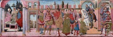 The Justice of Trajan and the widow by (after) Francesco Del Cossa - Reproduction Oil Painting