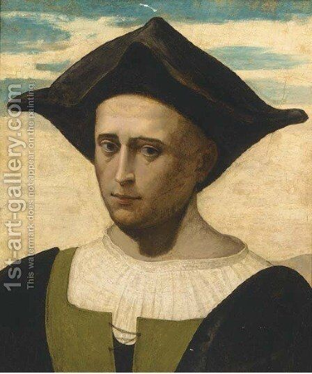 Portrait of a man by (after) Francesco Franciabigio - Reproduction Oil Painting