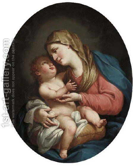 The Madonna and Child by (after) Francesco Fernandi - Reproduction Oil Painting