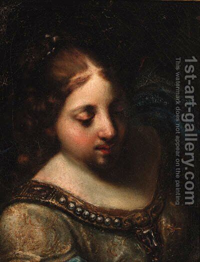 The head of a woman by (after) Francesco Furini - Reproduction Oil Painting