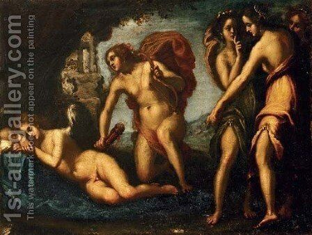 The Punishment of Cupid by (after) Bravo Cecco (Francesco Montelatici) - Reproduction Oil Painting