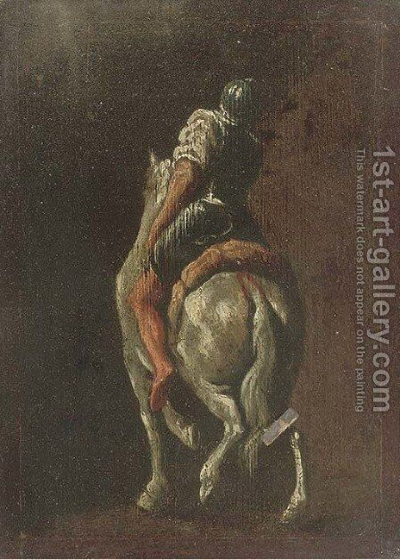 A soldier on horseback by (after) Francesco Simonini - Reproduction Oil Painting
