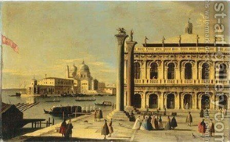 The Piazzetta, Venice, with the Libreria by (after) Francesco Tironi - Reproduction Oil Painting