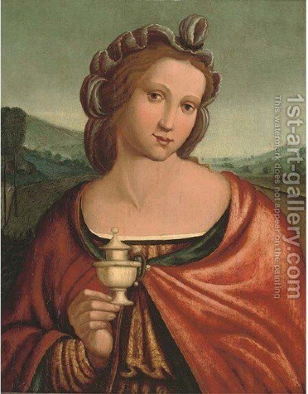 The Magdalen by (after)  Francesco Ubertini Bacchiacca II - Reproduction Oil Painting