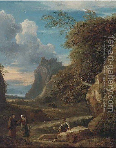 An Arcadian landscape by (after) Francesco Zucarelli - Reproduction Oil Painting