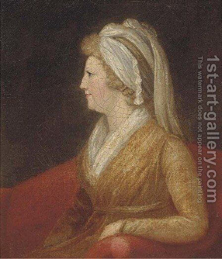 Portrait of a lady by (after) Francis Alleyne - Reproduction Oil Painting