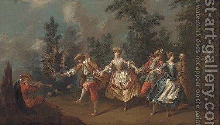 La fete champetre by (after) Hayman, Francis - Reproduction Oil Painting