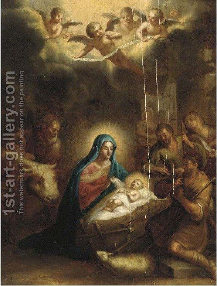 The Adoration of the Shepherds by (after) Francis Verwilt - Reproduction Oil Painting