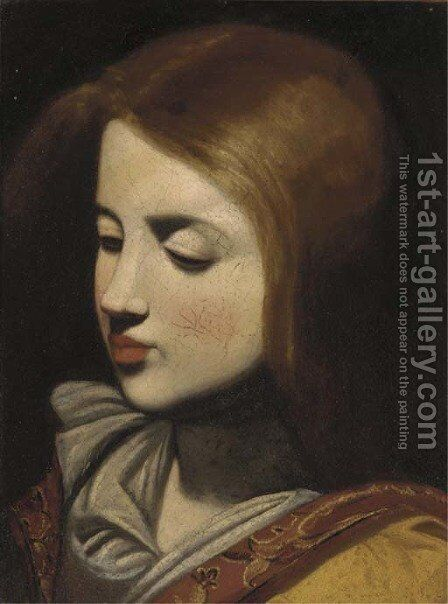 The head of a girl a fragment by (after) Francisco De Zurbaran - Reproduction Oil Painting