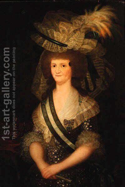 Portrait of Queen Maria Louisa of Spain by (after) Francisco De Goya Y Lucientes - Reproduction Oil Painting