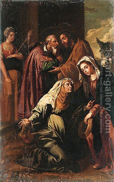 The Visitation by (after) Francisco Ribalta - Reproduction Oil Painting