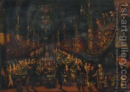 Belshazzar's Feast by (after) Frans I Francken - Reproduction Oil Painting