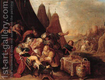 Alexander wounded by an arrow by (after) Frans II Francken - Reproduction Oil Painting