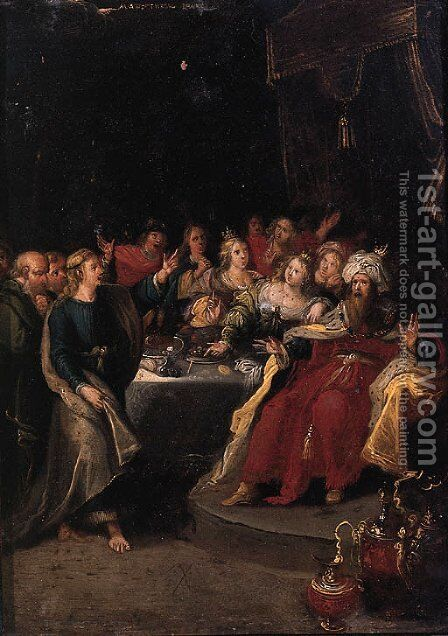 Belshazzar's Feast by (after) Frans II Francken - Reproduction Oil Painting