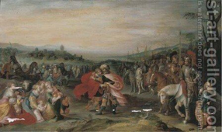 Jacob and Esau by (after) Frans II Francken - Reproduction Oil Painting