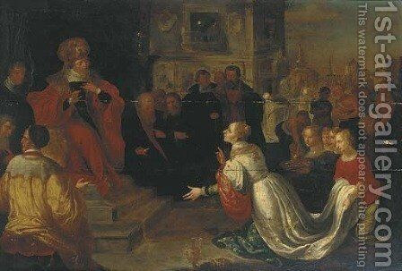 Solomon and the Queen of Sheba by (after) Frans II Francken - Reproduction Oil Painting
