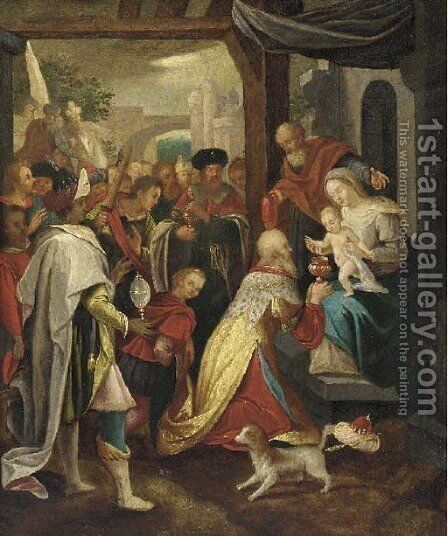The Adoration of the Magi 2 by (after) Frans II Francken - Reproduction Oil Painting
