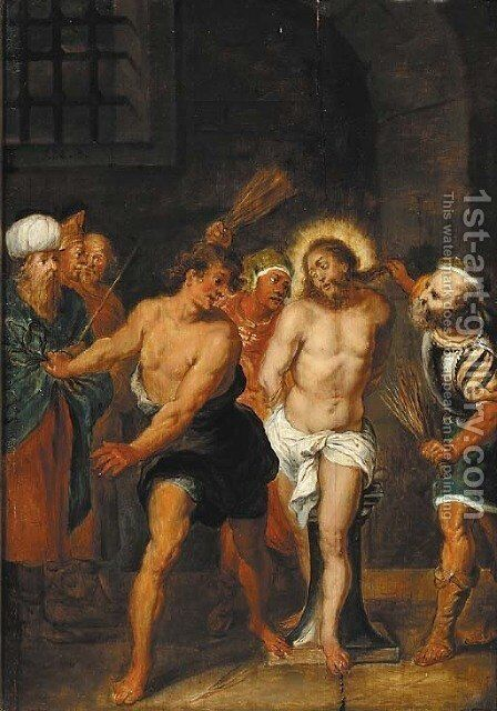 The Flagellation by (after) Frans II Francken - Reproduction Oil Painting