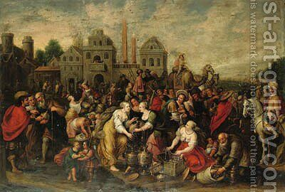 The Flight of the Israelites by (after) Frans II Francken - Reproduction Oil Painting
