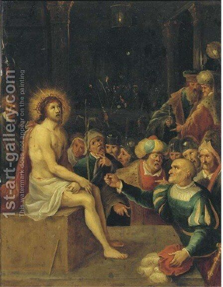 The Mocking of Christ by (after) Frans II Francken - Reproduction Oil Painting