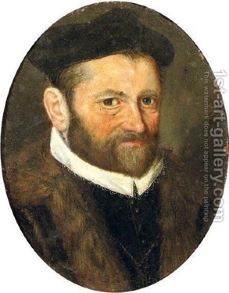 Portrait of a bearded man by (after)Frans, The Younger Pourbus - Reproduction Oil Painting