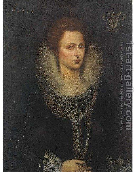 Portrait of a lady by (after)Frans, The Younger Pourbus - Reproduction Oil Painting