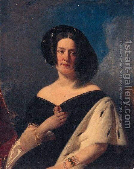 Portrait of a Lady by (after) Franz Xaver Winterhalter - Reproduction Oil Painting