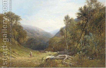 Near Lynmouth, North Devon by (after) Frederick William Hulme - Reproduction Oil Painting