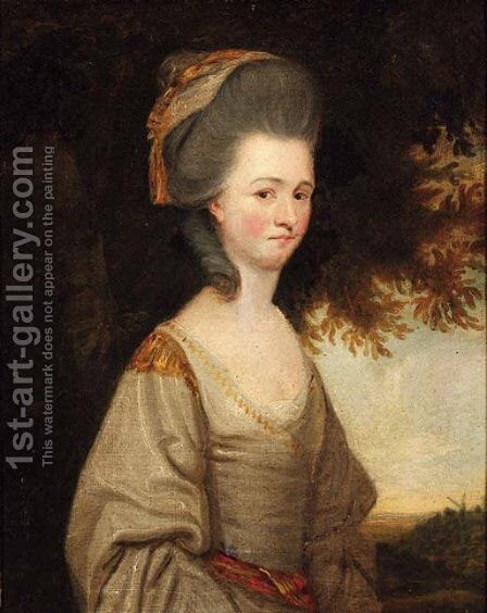 Portrait of a lady by (after) Gainsborough Dupont - Reproduction Oil Painting