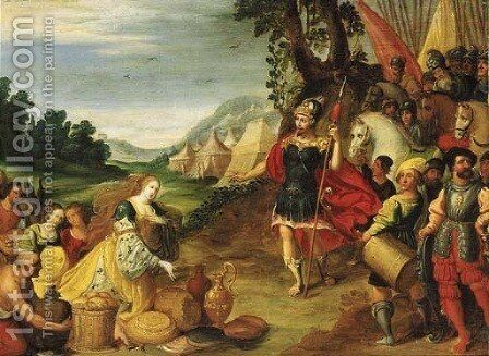 David and Abigail by (after) Kasper Or Gaspar Van Den Hoecke - Reproduction Oil Painting