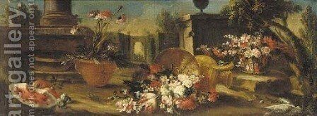 Still life by (after) Gasparo Lopez - Reproduction Oil Painting