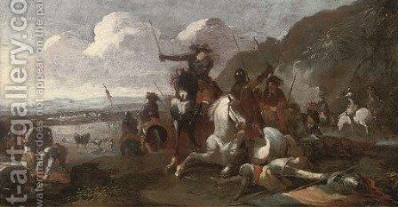 A cavalry skirmish 2 by (after) Rugendas, Georg Philipp I - Reproduction Oil Painting