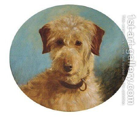 A terrier by (after) George Earl - Reproduction Oil Painting