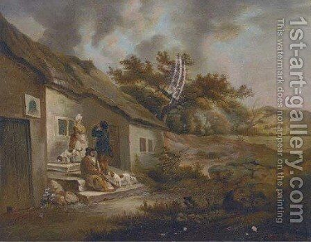 The Bell Inn by (after) George Morland - Reproduction Oil Painting
