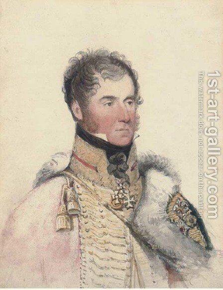 Portrait of the Marquis of Anglesey by (after) George Richmond - Reproduction Oil Painting