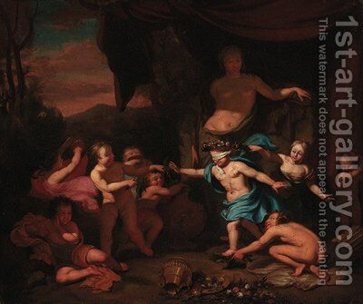 Children playing blind man's buff by (after) Gerard De Lairesse - Reproduction Oil Painting