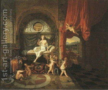 Mercury and Herse by (after) Gerard De Lairesse - Reproduction Oil Painting