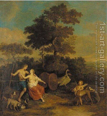 Venus and Adonis by (after) Gerard Hoet - Reproduction Oil Painting