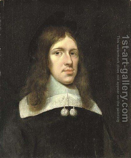 Portrait of a gentleman by (after) Gerard Ter Borch - Reproduction Oil Painting