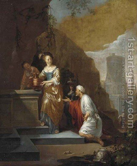 Rebecca at the Well by (after) Gerbrand Van Den Eeckhout - Reproduction Oil Painting