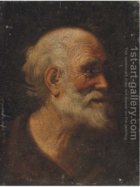 Head of a male saint by (after) Giacomo Francesco Cipper - Reproduction Oil Painting