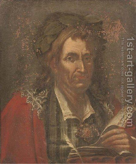 Portrait of a poet by (after) Giacomo Francesco Cipper - Reproduction Oil Painting