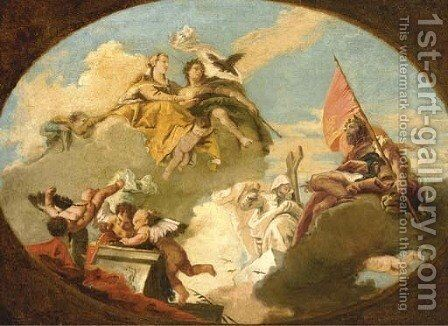 The Apotheosis of Francesco Barbaro by (after) Giovanni Battista Tiepolo - Reproduction Oil Painting