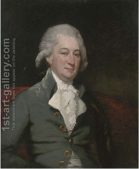 Portrait of a gentleman 2 by (after) Gilbert Stuart - Reproduction Oil Painting