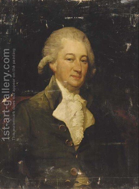Portrait of a gentleman 4 by (after) Gilbert Stuart - Reproduction Oil Painting