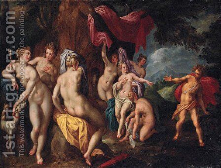 Diana and Actaeon by (after) Gillis Coignet - Reproduction Oil Painting
