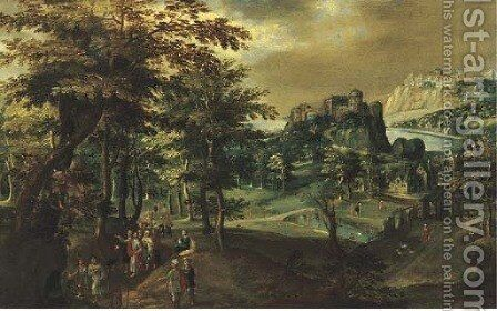 The Calling of Saint Zacchaeus by (after) Gillis Van Coninxloo III - Reproduction Oil Painting