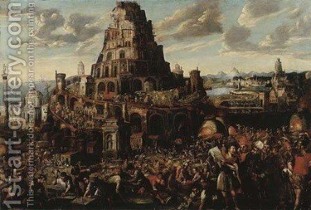 The Tower of Babel by (after) Gillis Van Valckenborch - Reproduction Oil Painting